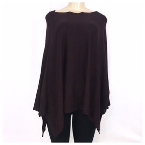Kenneth Cole Plum Burgundy Knit Casual Poncho XS/S
